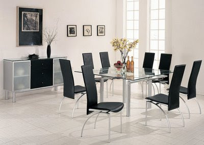 a modern dining room Set.
