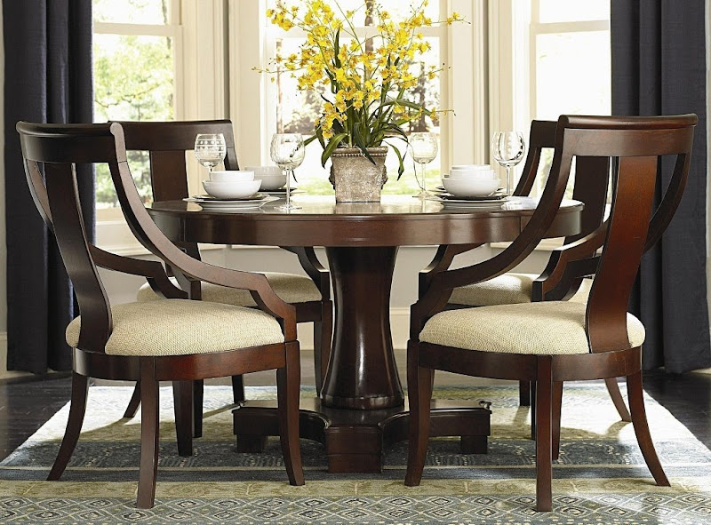 Round Formal Dining Room Table Sets (4 Image)