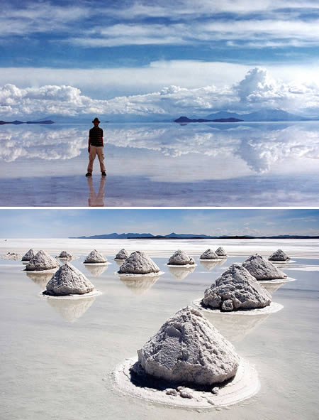 Salar de Uyuni (Bolivia): the world's largest salt desert