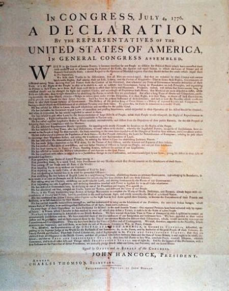 The man who bought an official copy of the Declaration of Independence for $4