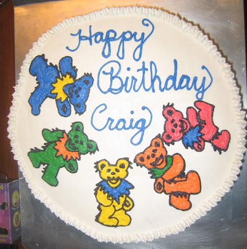 grateful dead dancing bears on birthday cake midtown houston