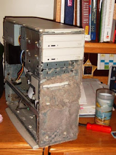 Dust clogged computer