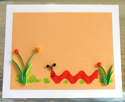 Rick Rack Quilled Card Tutorial