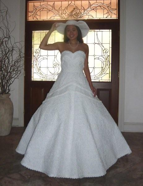 Paper Wedding Dress But not just any kind of paper