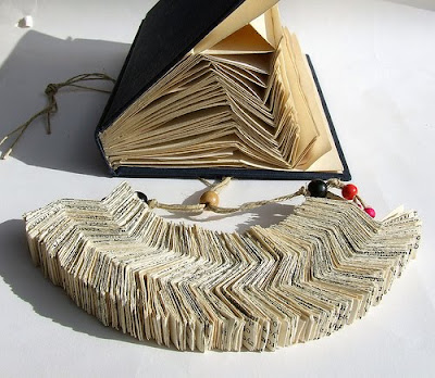 folded book necklace