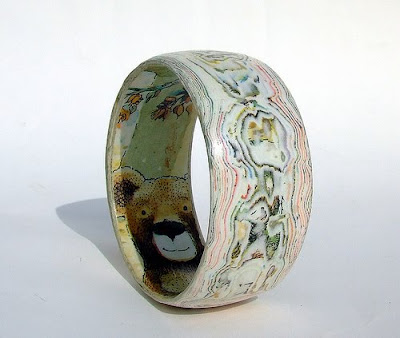 Bangle made from The Ladybird