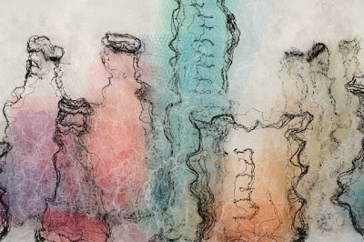 Laboratory II_detail, textile art embroidery by Susanne Gregg