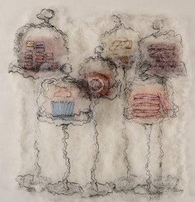 Kathy's Cookies, textile art embroidery by Susanne Gregg