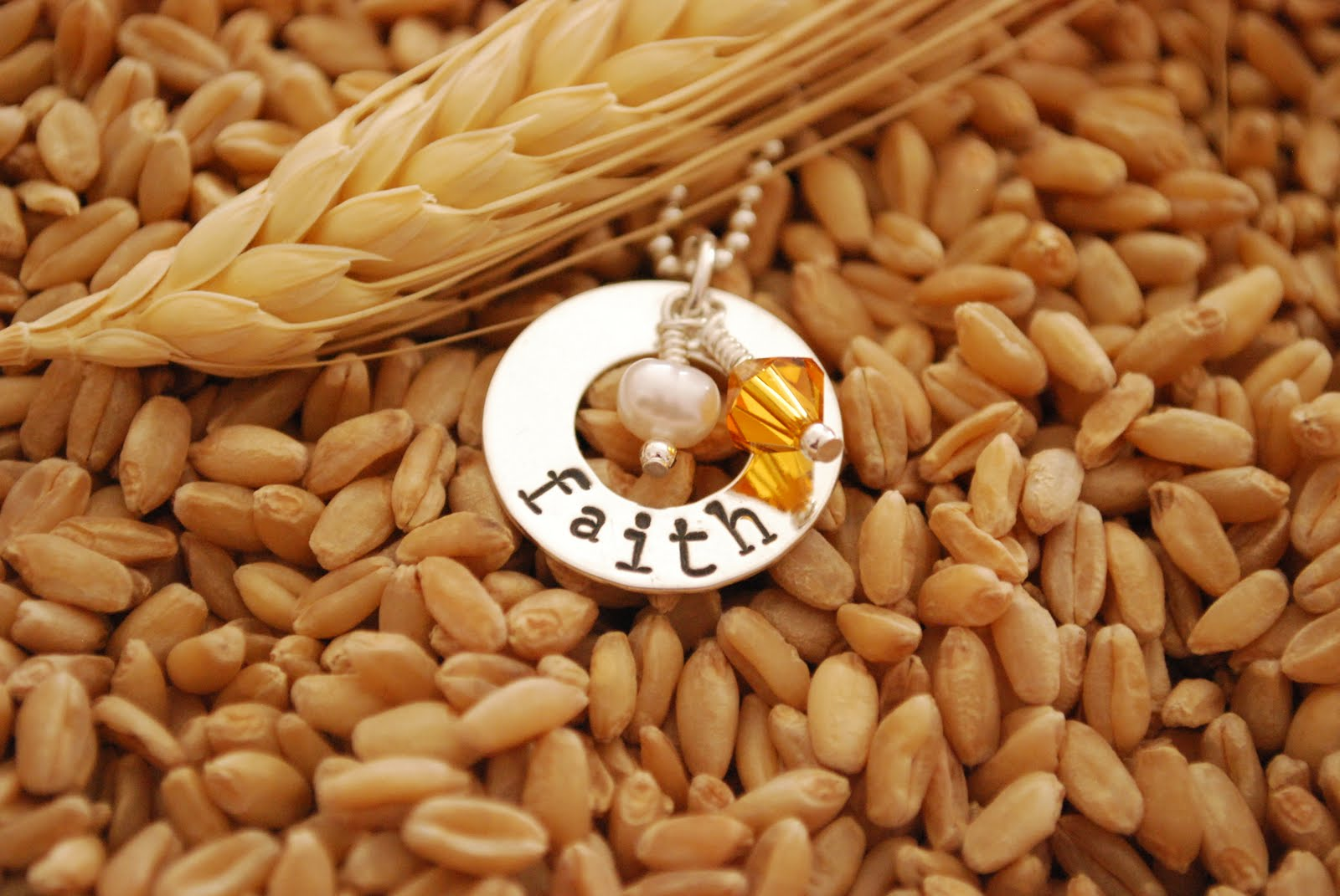 Wheat And Wildflowers Jewelry Faith