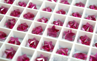 Swarovski Crystal Star Bead 5714 in Fuchsia