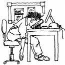 cramming student