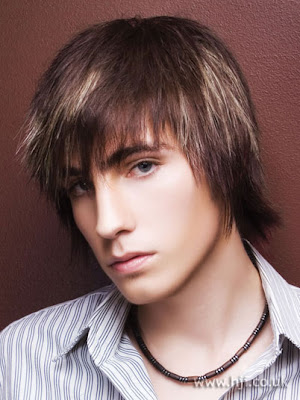 brown hair with blonde highlights men