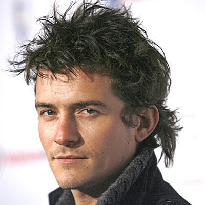 Orlando Bloom Razor Cut Hairstyles for Men