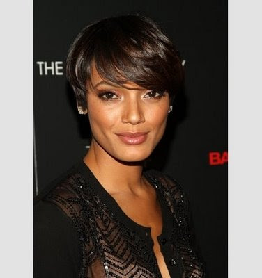 Nia Long Mid-Length Layered Sleek Hairstyle at the 1st Annual Essence Black