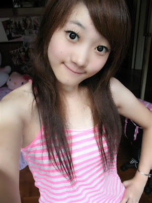 cute girl hairstyle. Asian Girls Summer Hairstyle