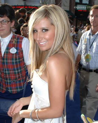 Miley Cyrus long straight hairstyle. Ashley Tisdale long straight hairstyle