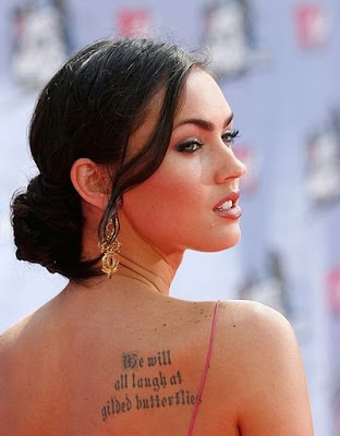 Sexy Megan Fox Tattoos