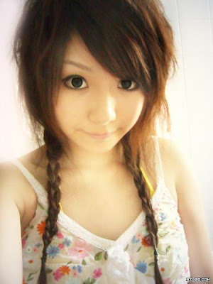 korean girl hairstyle. Hairstyle from Asian Girl