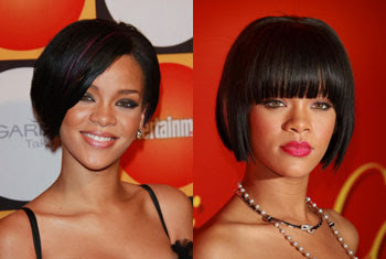 rihanna short bob hairstyles