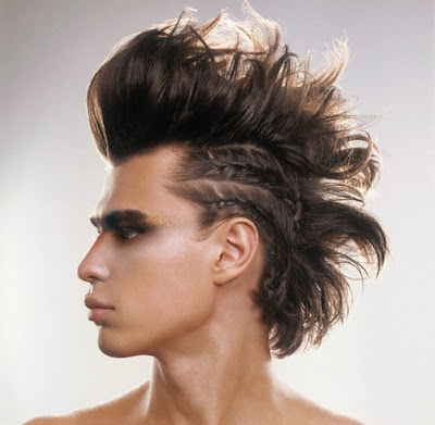 faux hawk hairstyle. david beckham hairstyles faux