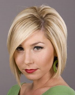 Celebrity Short Blonde Modern Haircuts for Women 2010