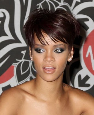 cute short african american hair - rihanna
