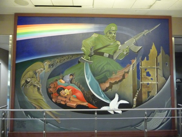 Da new sees world report via daniyel enigmatic murals for Denver mural airport