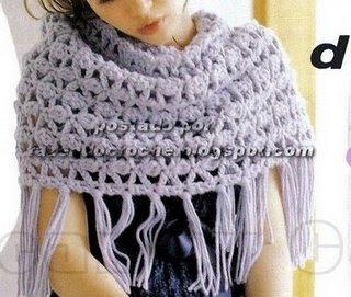 este chal lo copié del blog fazendo-crochet al cual sigo y tiene ...