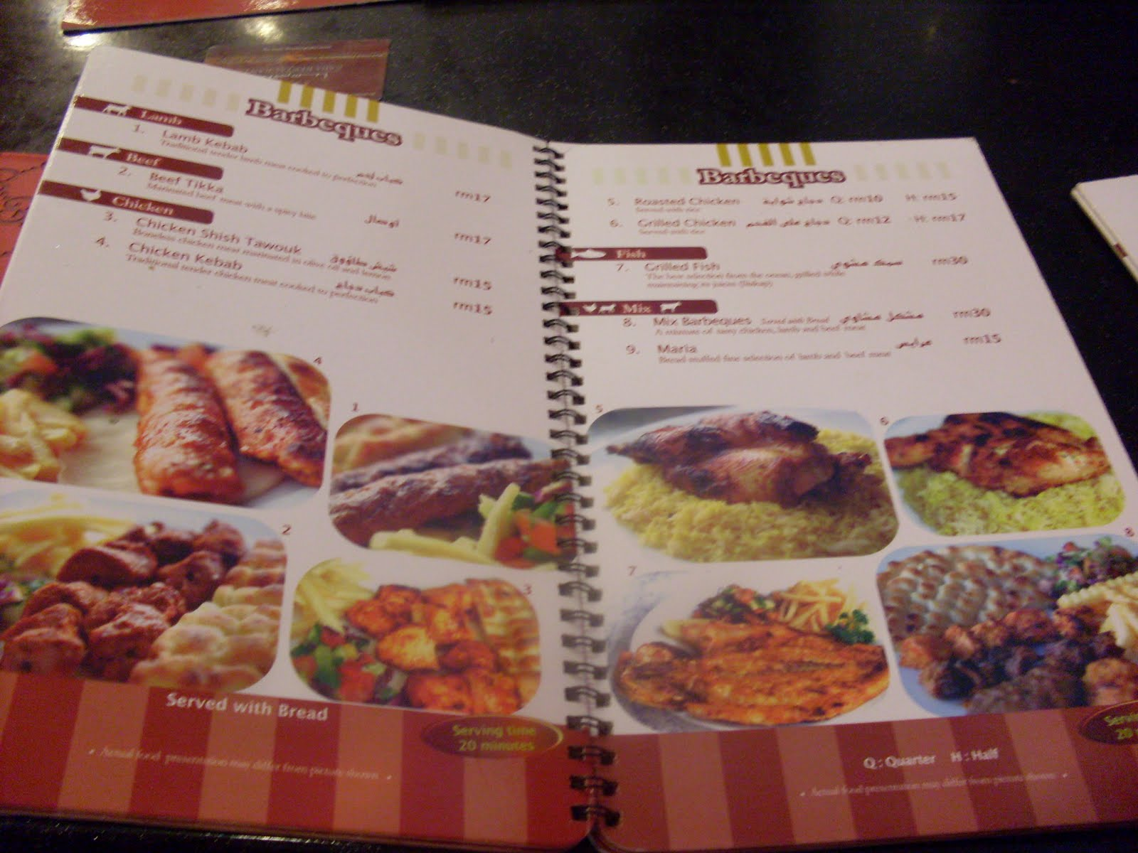Beautiful memories restaurant saba cyberjaya nasi for Arabian cuisine menu