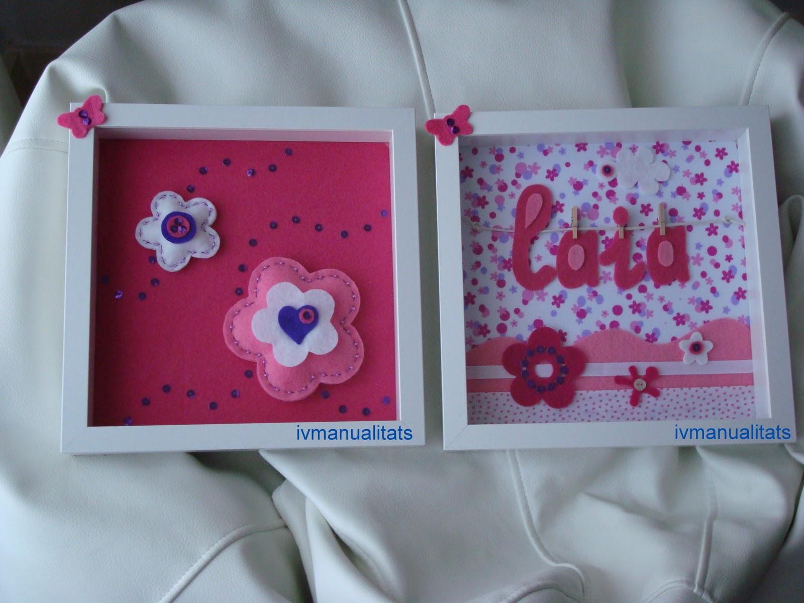 Ivmanualitats manualidades cuadros infantiles para nena Cuadros para decorar habitaciones infantiles