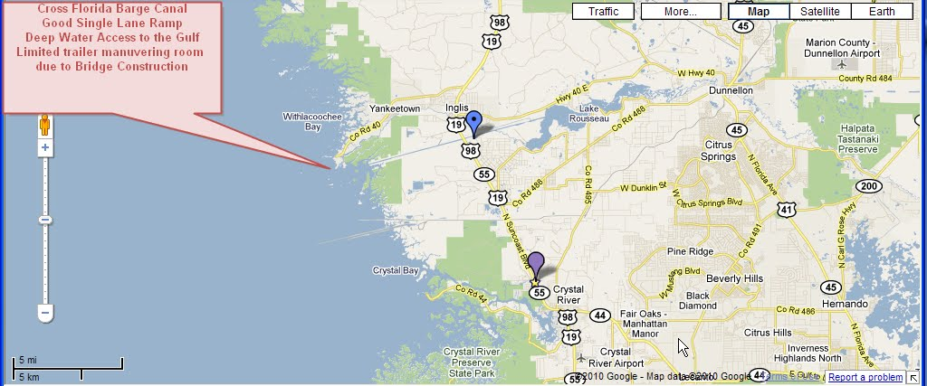 Crystal river florida map for Crystal river fl fishing report