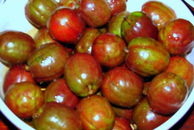 Fruits Stand Siniguelas Or Spanish Plum