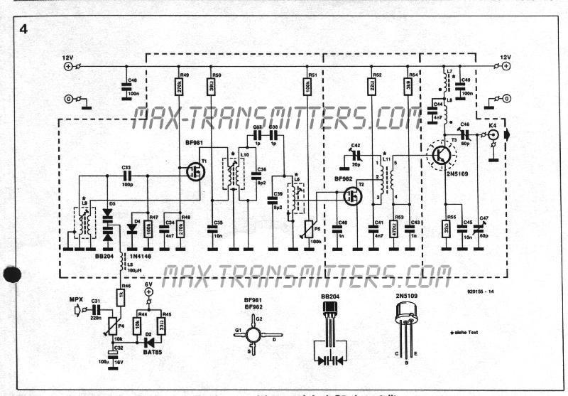 ba1404  fet fm transmitter schematic