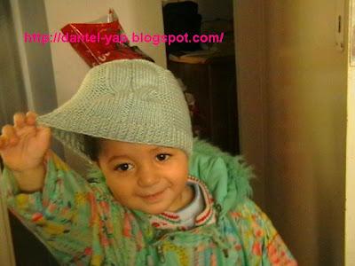 Çocuk Bere Şapka Örnekleri