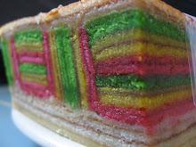 kek lapis tikar mengkuang