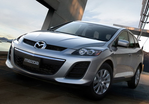 Front 3/4 shot of 2011 Mazda CX-7