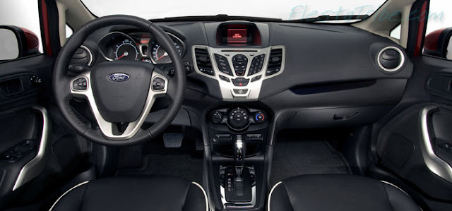 Interior view of 2011 Ford Fiesta