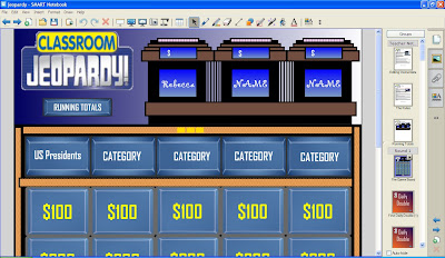 Classroom JEOPARDY For SMART Notebook Version 10