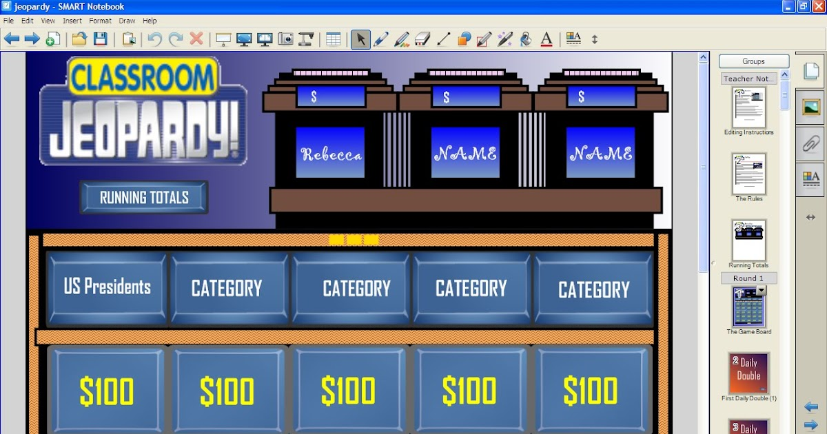 The Science And Technology Lady Classroom Jeopardy For Smart
