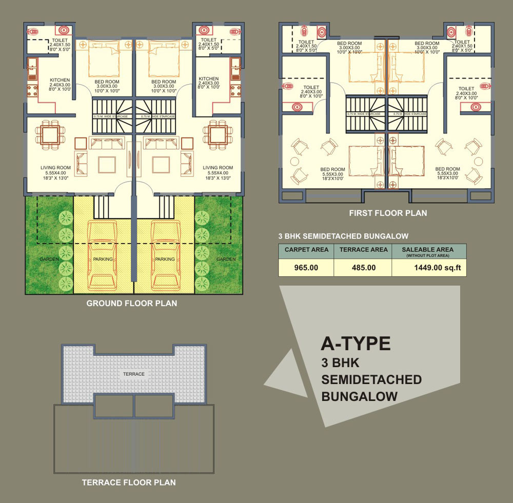 BHK Bungalows - C Type Detached Units -