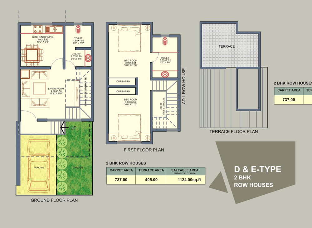 Rowhouse floor plans find house plans for Row house layout plan