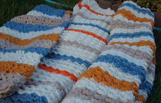 Free Crochet Pattern Blanket for Baby or Lap Robe - Crocheting