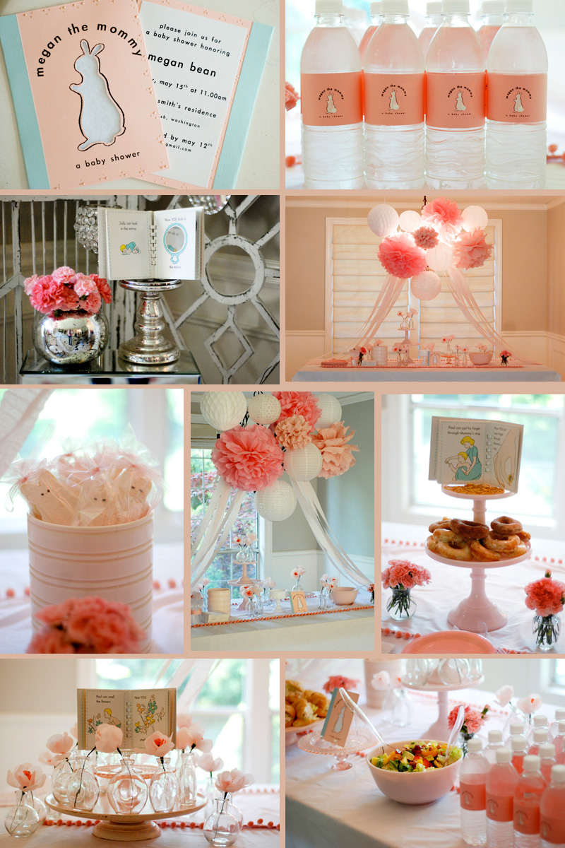 Host a classic children s book themed baby shower for Baby shower decoration blog