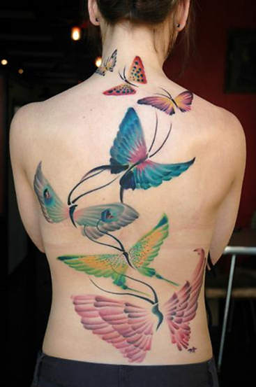 Butterfly tattoos are beautiful, dynamic and versatile motifs for a man or a