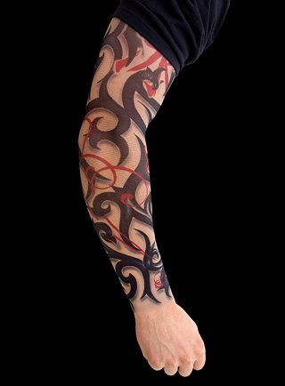 half sleeve tattoos tribal