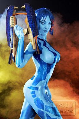 Cortana Body Painting
