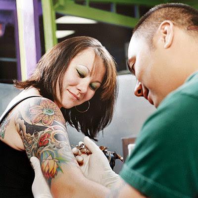 making tattoos.