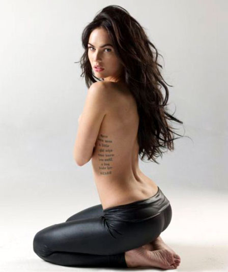 megan fox rib tattoo
