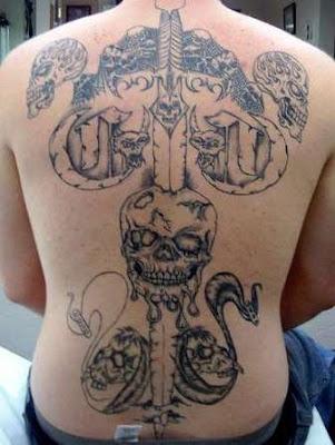 Back Tattoos - Skull Tattoos