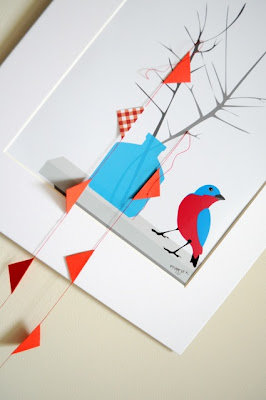 bird and bunting art
